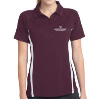 MEEN Ladies Micro Mesh Colorblock Polo  Thumbnail